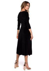 Sukienka wizytowa MOE midi, klasyczna, w kształcie A