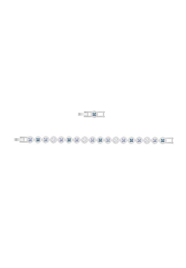 Srebrna bransoletka Swarovski z kryształem, metalowa, z aplikacjami