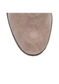 Arturo Vicci - Botki cappuccino z ukrytą koturną. Kolor: brązowy, wielokolorowy, beżowy. Obcas: na koturnie. Styl: boho