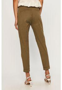 Zielone spodnie materiałowe ANSWEAR wakacyjne
