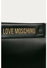 Czarna shopperka Love Moschino na ramię