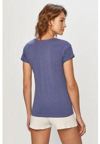 Niebieska piżama Henderson Ladies krótka, z nadrukiem