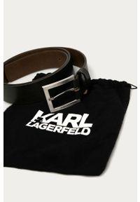 Brązowy pasek Karl Lagerfeld klasyczny