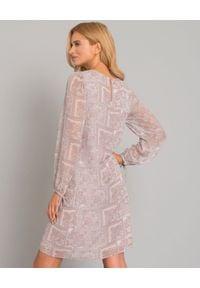 HEMISPHERE - Sukienka we wzory. Okazja: na randkę, na imprezę. Kolor: beżowy. Materiał: materiał. Typ sukienki: proste. Długość: midi