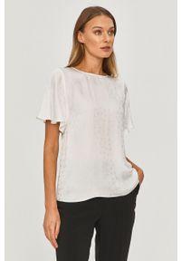 Biała bluzka MAX&Co. gładkie, krótka, z krótkim rękawem