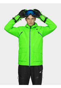 Zielona kurtka narciarska 4f na jesień, Dermizax, ze stójką