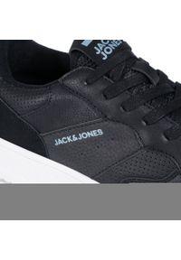 Jack & Jones - Sneakersy JACK&JONES - Jfwcaras 12177229 Anthracite. Okazja: na co dzień. Kolor: czarny. Materiał: skóra ekologiczna, skóra, materiał. Szerokość cholewki: normalna. Styl: sportowy, casual