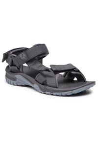 Szare sandały trekkingowe Jack Wolfskin na lato