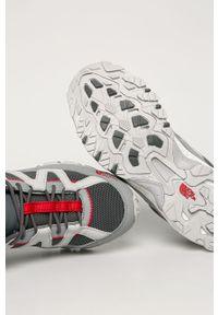 Szare buty trekkingowe The North Face z cholewką, na sznurówki