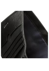 JOOP! - Czarny skórzany portfel męski. Kolor: czarny. Materiał: skóra