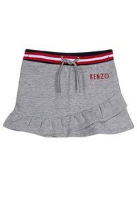 Kenzo kids - KENZO KIDS - Szara spódnica z logo 2-12 lat. Kolor: szary. Materiał: dresówka, materiał, bawełna. Wzór: nadruk. Sezon: lato
