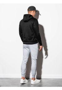Czarna bluza Ombre Clothing z kapturem, klasyczna