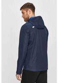 Niebieska kurtka 4f z kapturem, casualowa, na co dzień