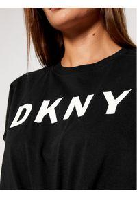 Czarny t-shirt DKNY Sport sportowy