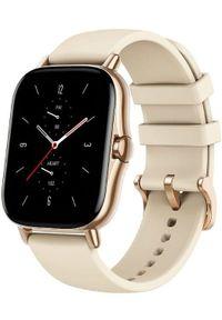 AMAZFIT - Amazfit GTS 2, Desert Gold. Rodzaj zegarka: smartwatch. Kolor: złoty. Styl: sportowy