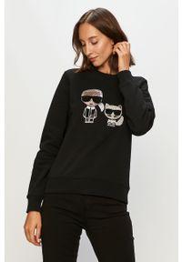 Czarna bluza Karl Lagerfeld casualowa, na co dzień, bez kaptura
