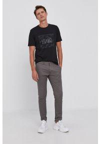 Hugo - T-shirt bawełniany. Okazja: na co dzień. Kolor: czarny. Materiał: bawełna. Wzór: nadruk. Styl: casual