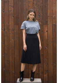 VEVA - Spódnica plisowana Charming Pleats czarna. Kolor: czarny. Długość: długie. Styl: sportowy, klasyczny, elegancki