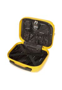 Wittchen - Kosmetyczka podróżna z ABS-u z żebrowaniem. Kolor: żółty