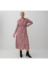 Reserved - Sukienka o koszulowym kroju - Wielobarwny. Typ sukienki: koszulowe