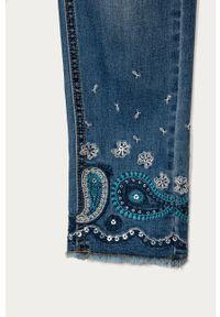 Niebieskie jeansy Desigual casualowe, z aplikacjami, na co dzień