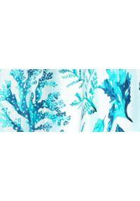 TOP SECRET - Sukienka maxi z dekoltem halter i morskim nadrukiem. Typ kołnierza: dekolt halter. Kolor: niebieski. Materiał: tkanina. Wzór: nadruk. Długość: maxi