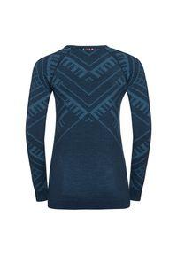 Bielizna termoaktywna damska Odlo Natural Warm Shirt 110711. Materiał: materiał, wełna, syntetyk, włókno, poliamid, poliester