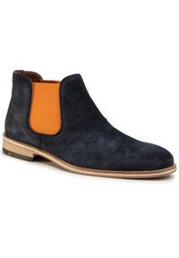 Niebieskie buty zimowe Lloyd casualowe, z cholewką, na co dzień