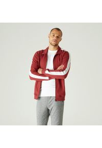 Bluza sportowa NYAMBA na fitness i siłownię, w paski, ze stójką