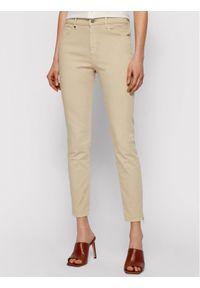 Beżowe jeansy slim BOSS