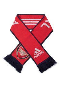 Czerwony szalik Adidas sportowy, na lato
