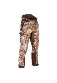 SOLOGNAC - Spodnie myśliwskie WTP WARM CAMO900. Materiał: welur, tkanina