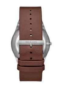 Skagen - Zegarek SKW6574. Kolor: brązowy. Materiał: skóra, materiał