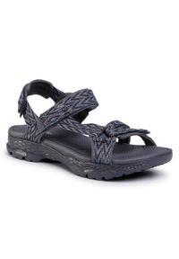 Szare sandały skechers na co dzień, casualowe