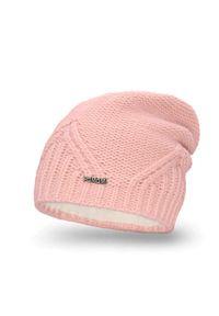 Różowa czapka zimowa PaMaMi #3