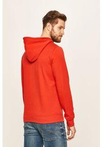 Czerwona bluza nierozpinana s.Oliver casualowa, z nadrukiem, z kapturem, na co dzień