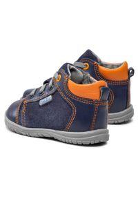 RenBut - Trzewiki RENBUT - 13-1442 Granat/Pomarańcz. Kolor: niebieski. Materiał: skóra, zamsz. Szerokość cholewki: normalna. Sezon: zima #5