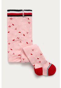 Różowe rajstopy TOMMY HILFIGER