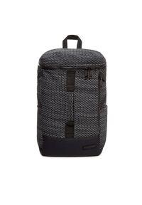 Czarny plecak Eastpak z aplikacjami, casualowy
