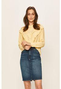 Żółta koszula Vero Moda elegancka, z długim rękawem