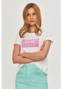 Różowa bluzka Mos Mosh na co dzień, z aplikacjami