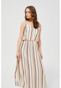 Sukienka MOODO maxi, casualowa, w paski, na plażę