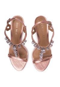 Różowe sandały Eva Minge klasyczne