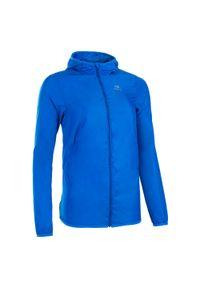 Niebieska kurtka do biegania KALENJI z kapturem