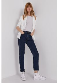 Levi's® - Levi's - Jeansy 501. Okazja: na spotkanie biznesowe. Stan: podwyższony. Kolor: niebieski. Styl: biznesowy