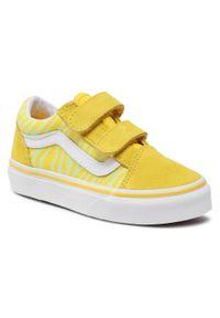 Vans - Tenisówki VANS - Ols Skool V VN0A4BUV33Z1 (Neon Animal)Zebra/Yellow. Zapięcie: rzepy. Kolor: żółty. Materiał: zamsz, materiał, skóra. Szerokość cholewki: normalna. Wzór: motyw zwierzęcy