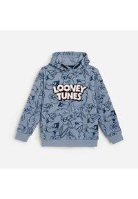 Reserved - Bluza z kapturem Looney Tunes - Niebieski. Typ kołnierza: kaptur. Kolor: niebieski