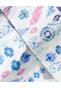 ROCOCO SAND - Kombinezon z krókim rękawem. Kolor: biały. Materiał: wiskoza. Długość: długie. Wzór: aplikacja, geometria, nadruk