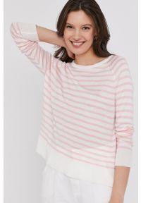 Answear Lab - Sweter. Okazja: na co dzień. Kolor: różowy. Materiał: dzianina. Długość rękawa: raglanowy rękaw. Styl: wakacyjny