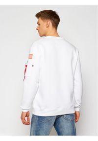 Alpha Industries Bluza Nasa 186304 Biały Regular Fit. Kolor: biały